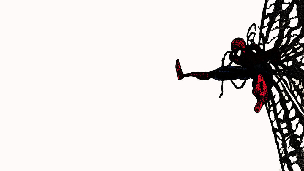 Spiderman Walk red blu background 4k 3840x2160 by the jam on 1024x576