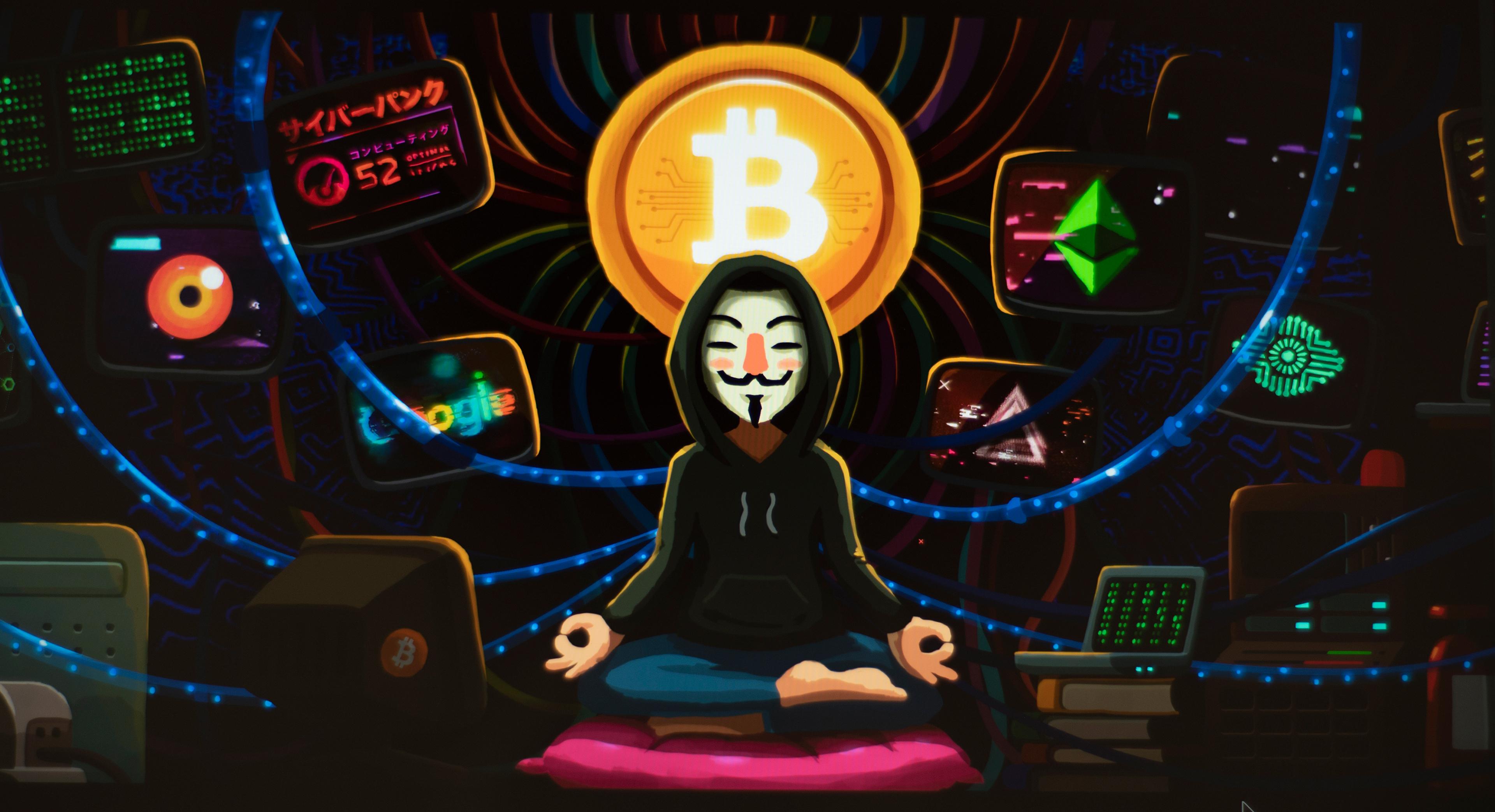Bitcoin Anonymous   3840x2086   Download HD Wallpaper   WallpaperTip 3840x2086