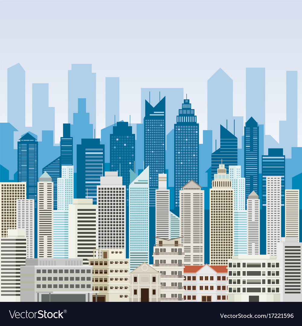 Buildings and skyscrapers background Royalty Vector 1000x1080