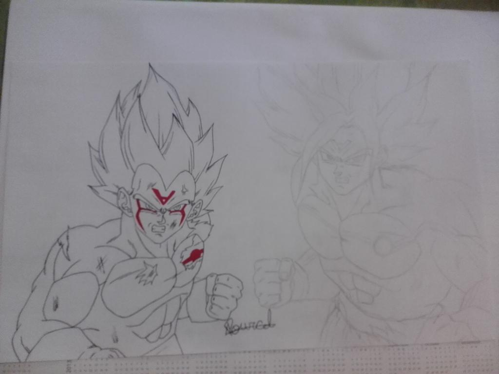 Goku y Vegeta omni tribute to anime war by AndresEntertainment 1024x768