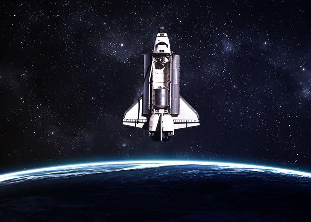 Space Shuttle on a mission Wall Mural Wallpaper Canvas Art Rocks 1000x714