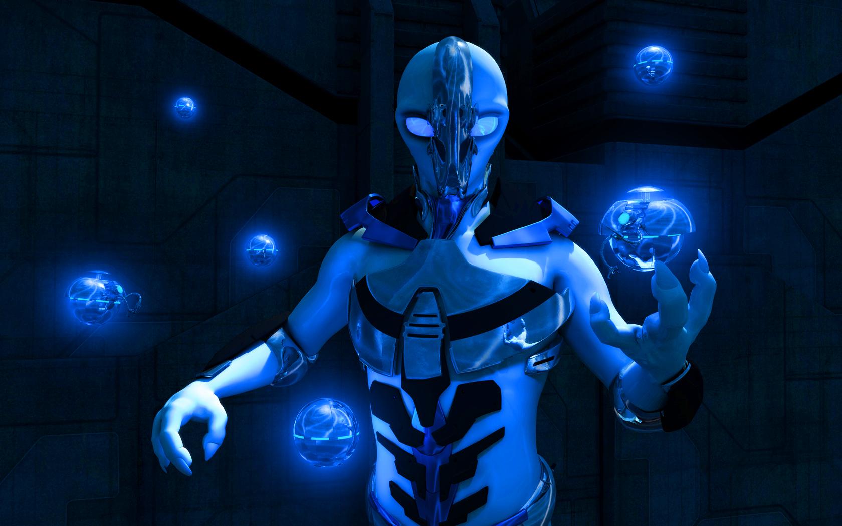 Blue Alien Wallpaper wallpaper Blue Alien Wallpaper hd wallpaper 1680x1050