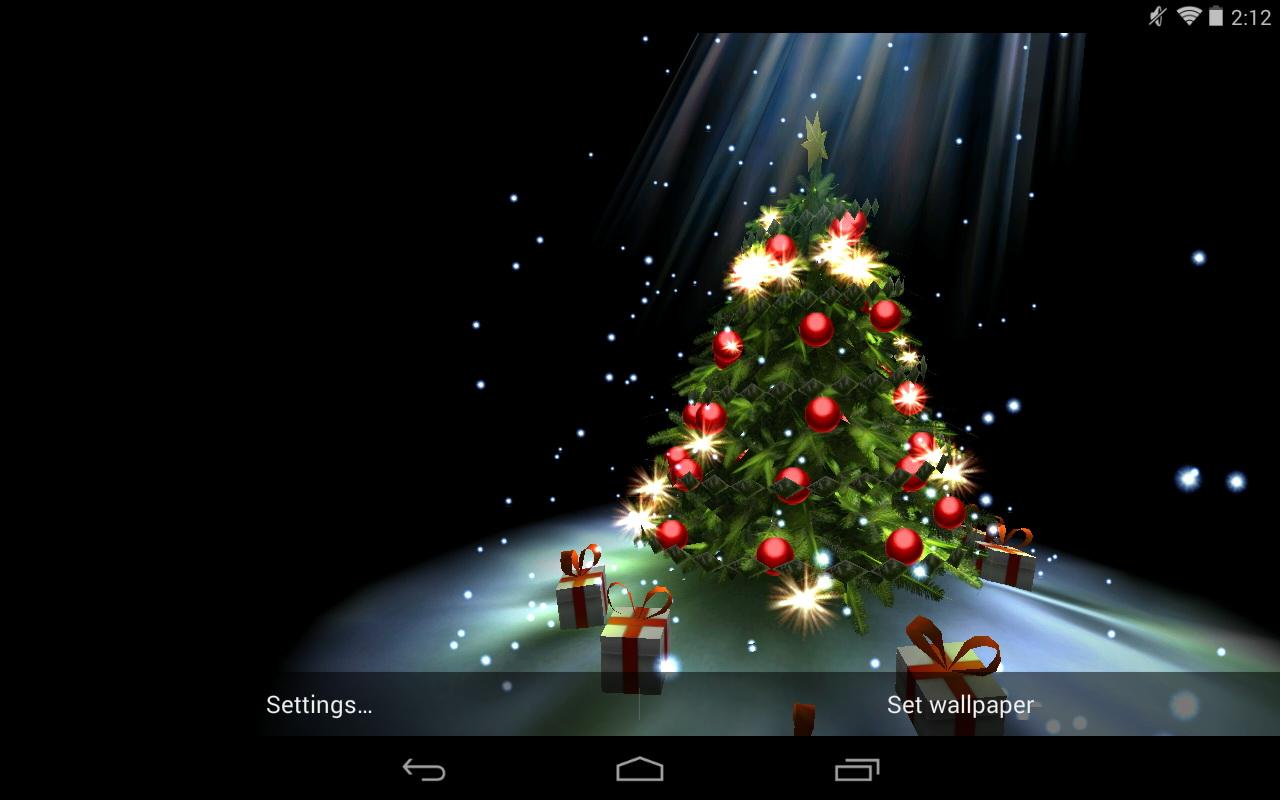 Christmas Tree In Living Room Christmas Live Wallpaper For Computer Wallpapersafari