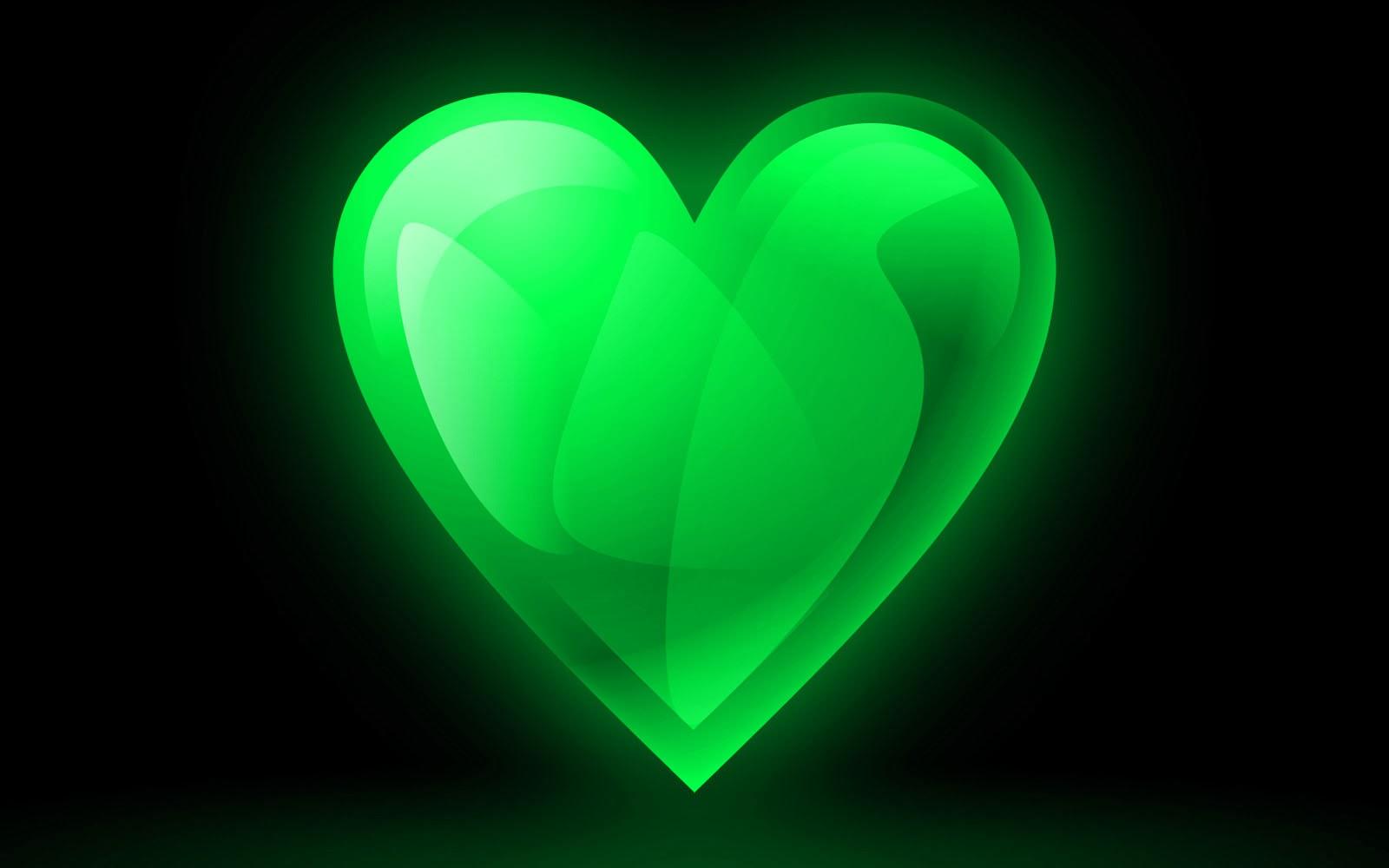 Green Heart Desktop Wallpapers Green Heart Desktop Backgrounds Green 1600x1000