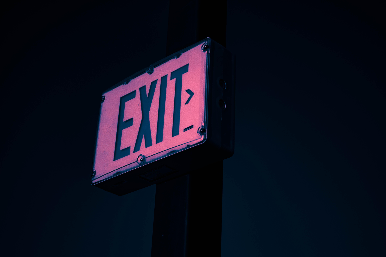 5296116 6000x4000 dark images sign exit neon 6000x4000