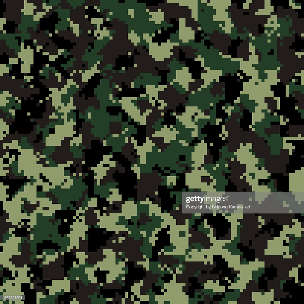 Thai Army Digital Camouflage Pattern Background High Res Vector 1024x1024