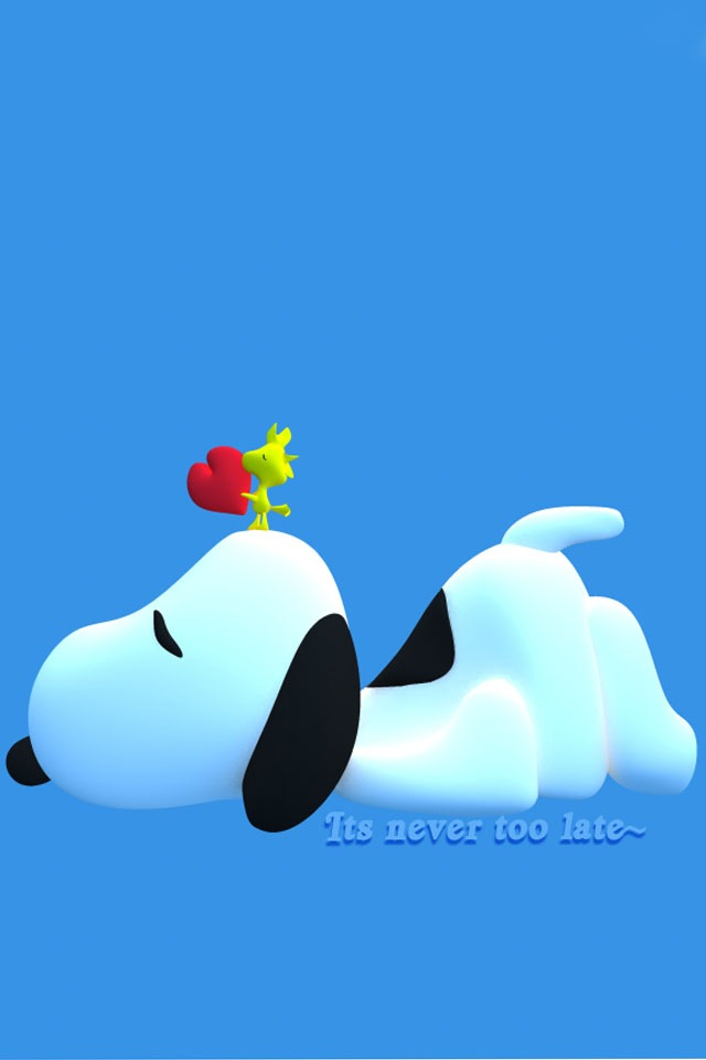 Download for iPhone cartoons wallpaper Snoopy And Woodstock 640x960