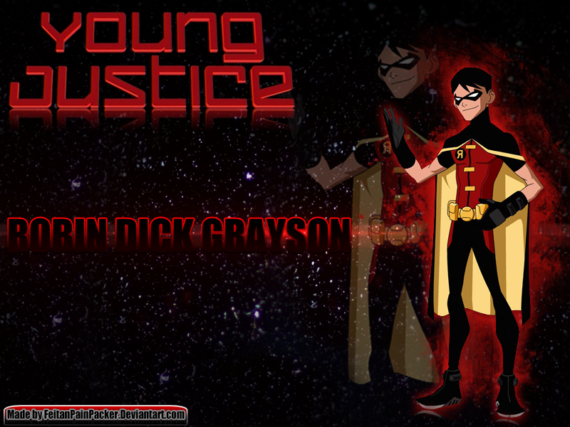 Young Justice Robin Dick Grayson Wallpaper by 800x600