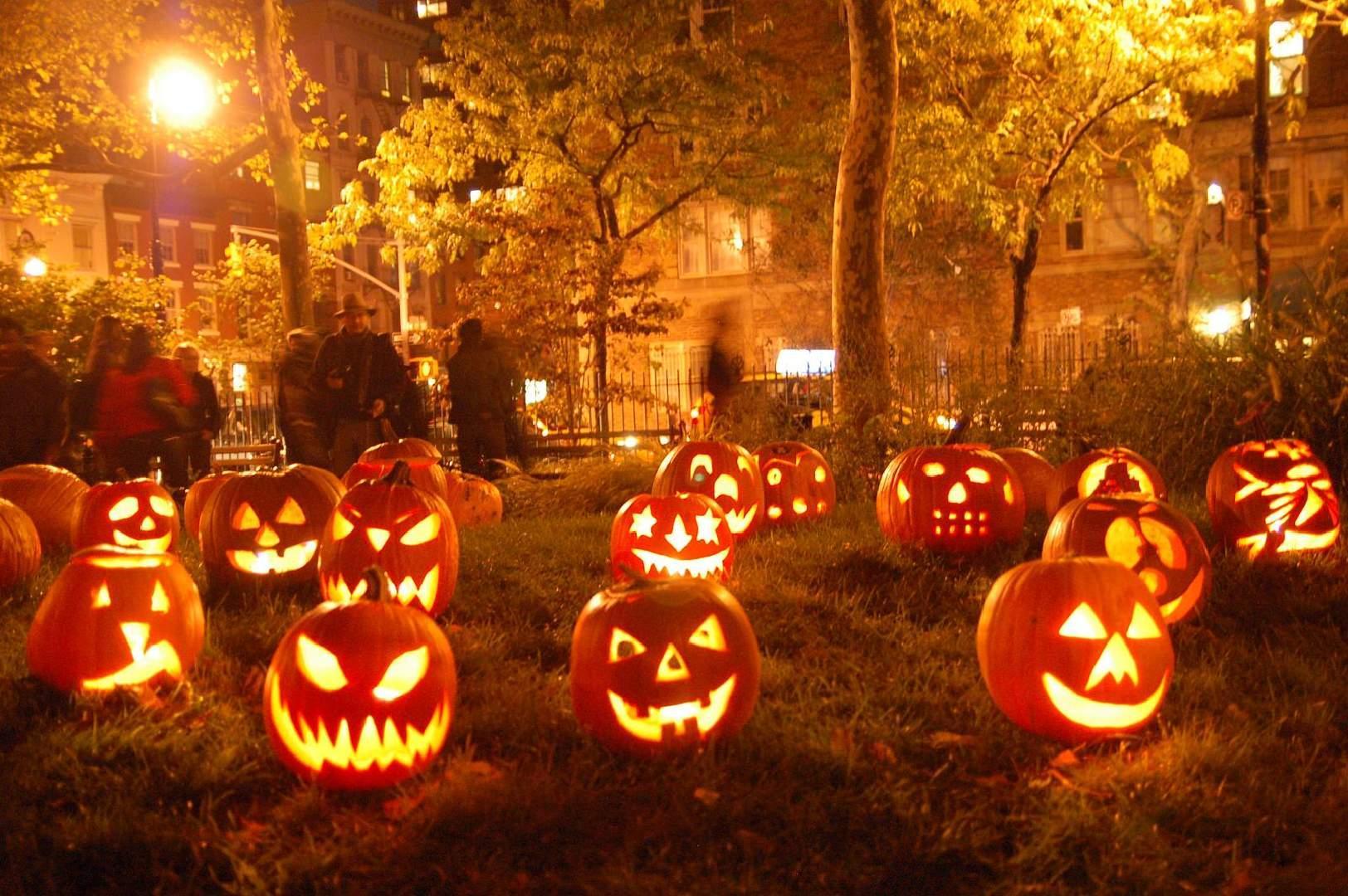 Fall Pumpkin Desktop Landscapes Nature 1624x1080