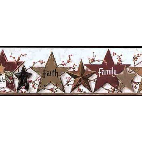 Download Primitive Star Friends Family Wallpaper Border Home