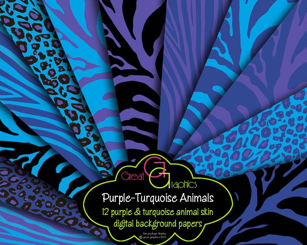 Purple and turquoise wallpaper wallpapersafari - Purple cheetah print background ...