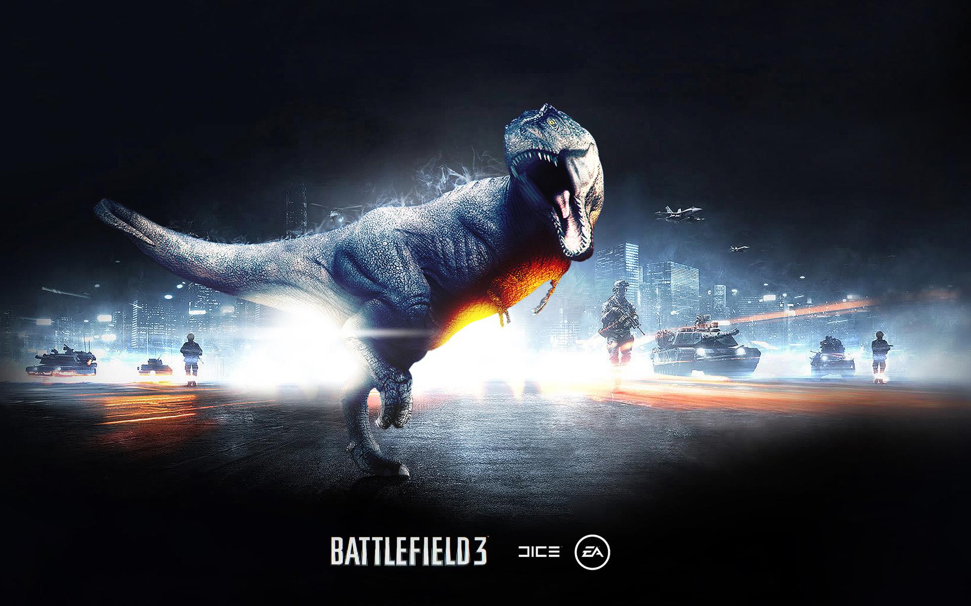 Battlefield 3 Dinosaur Mode Wallpapers HD Wallpapers 1920x1200