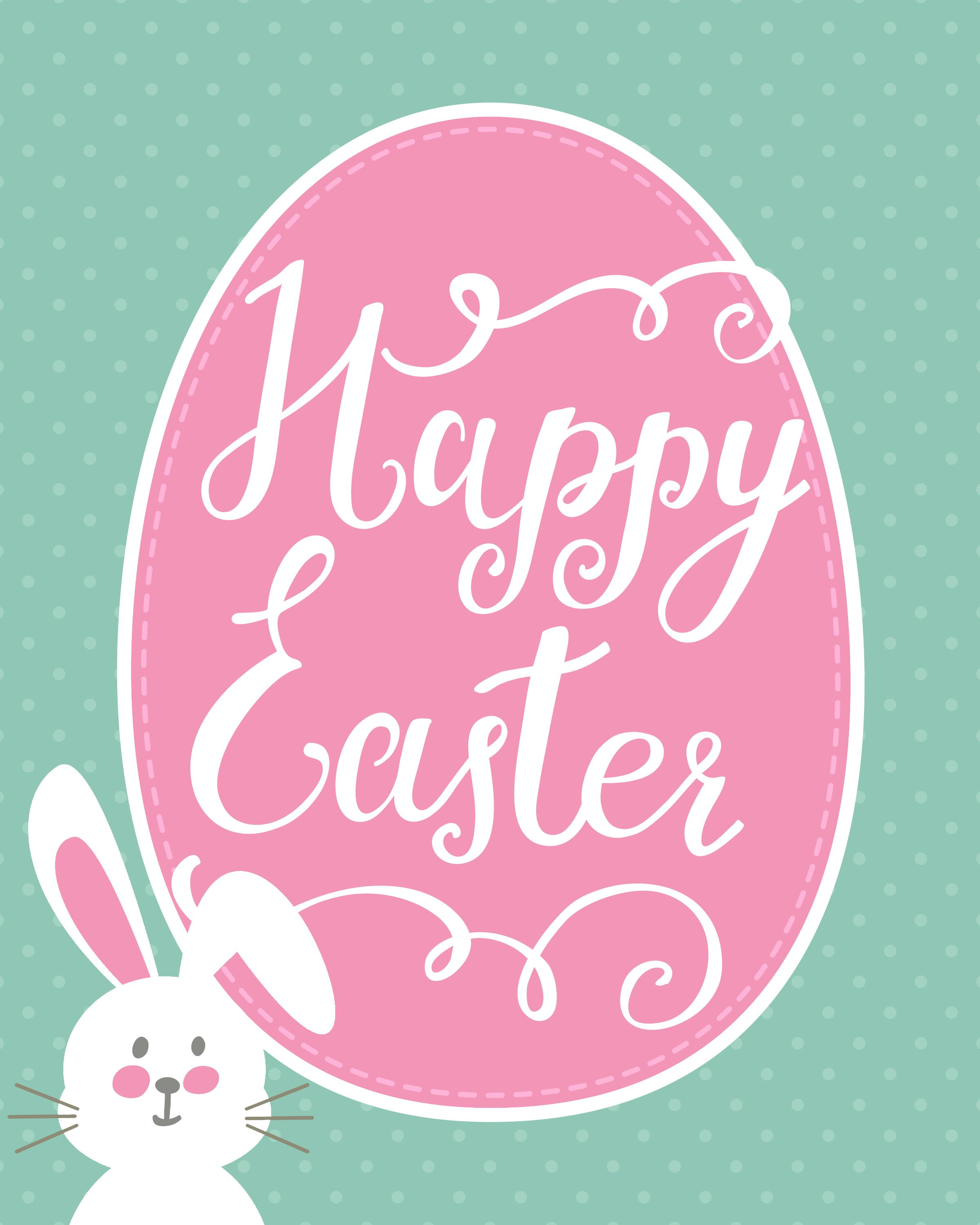Happy Easter Bunny Printable   How to Nest for Less Happy 2400x3000