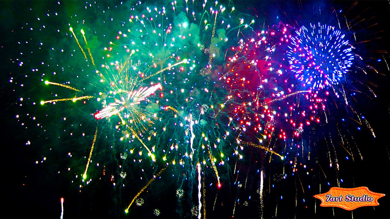 Fireworks screensaver for Windows and live wallpaper for Android 1280x720