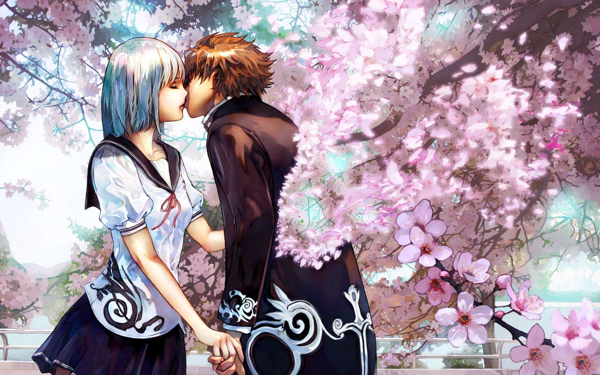 Anime Love Wallpapers: Cute Anime Couple Wallpaper