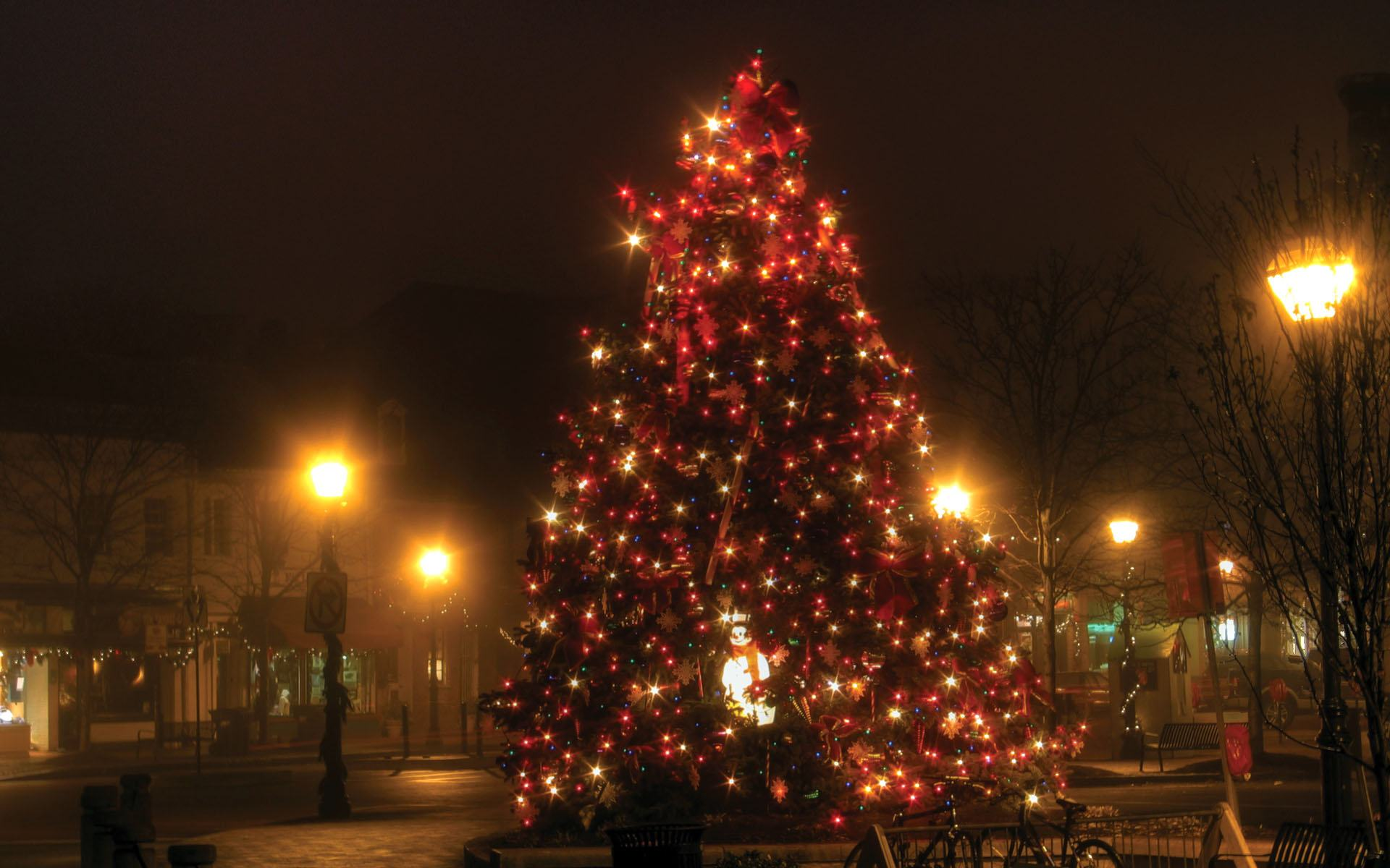 Blinking Christmas Lights Wallpaper Wallpapersafari