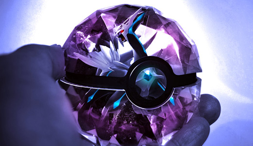 Cool Pokemon Ball Wallpapers Dialga Purple Pokeball 520x300