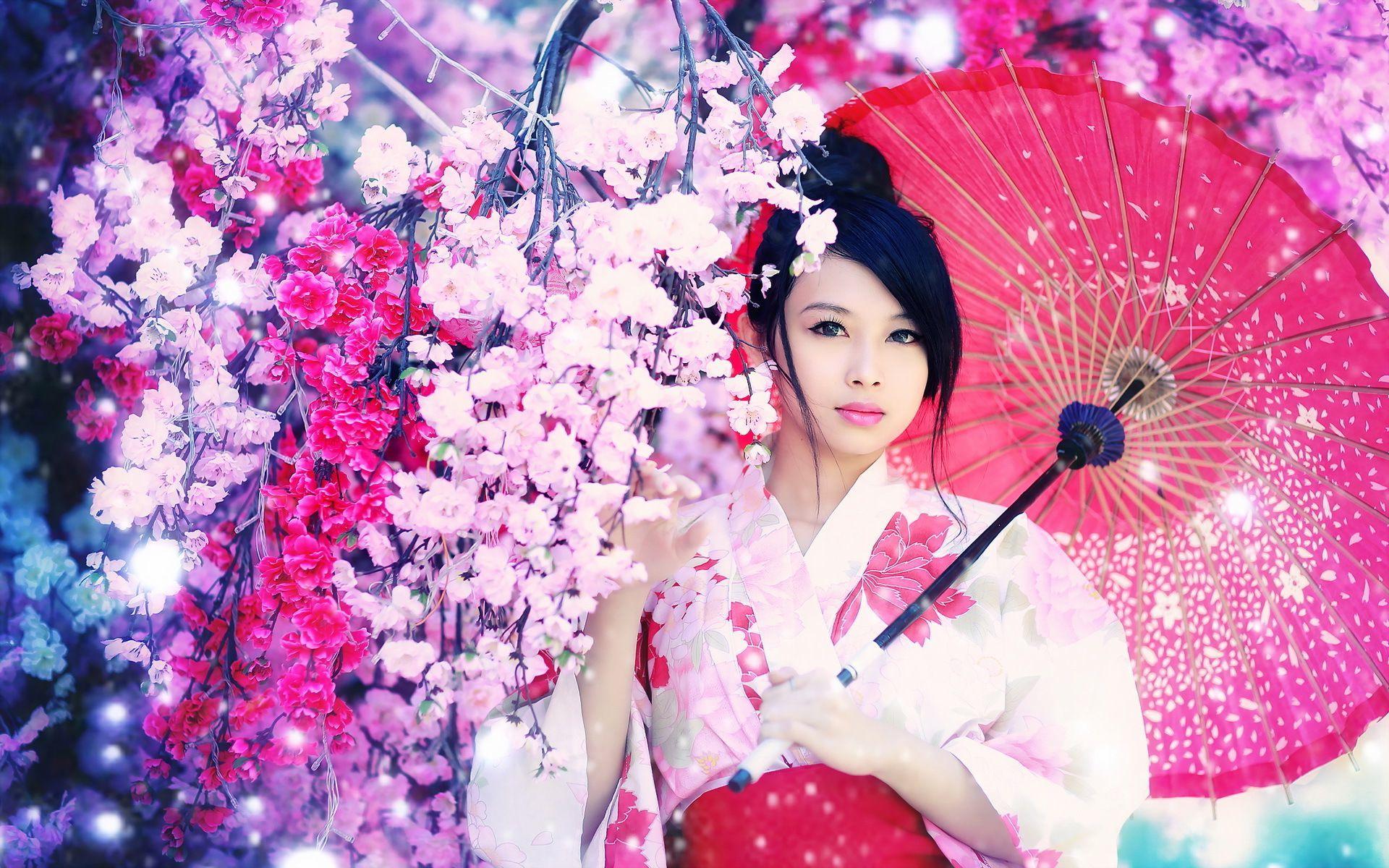 Geisha Wallpaper HD 1920x1200