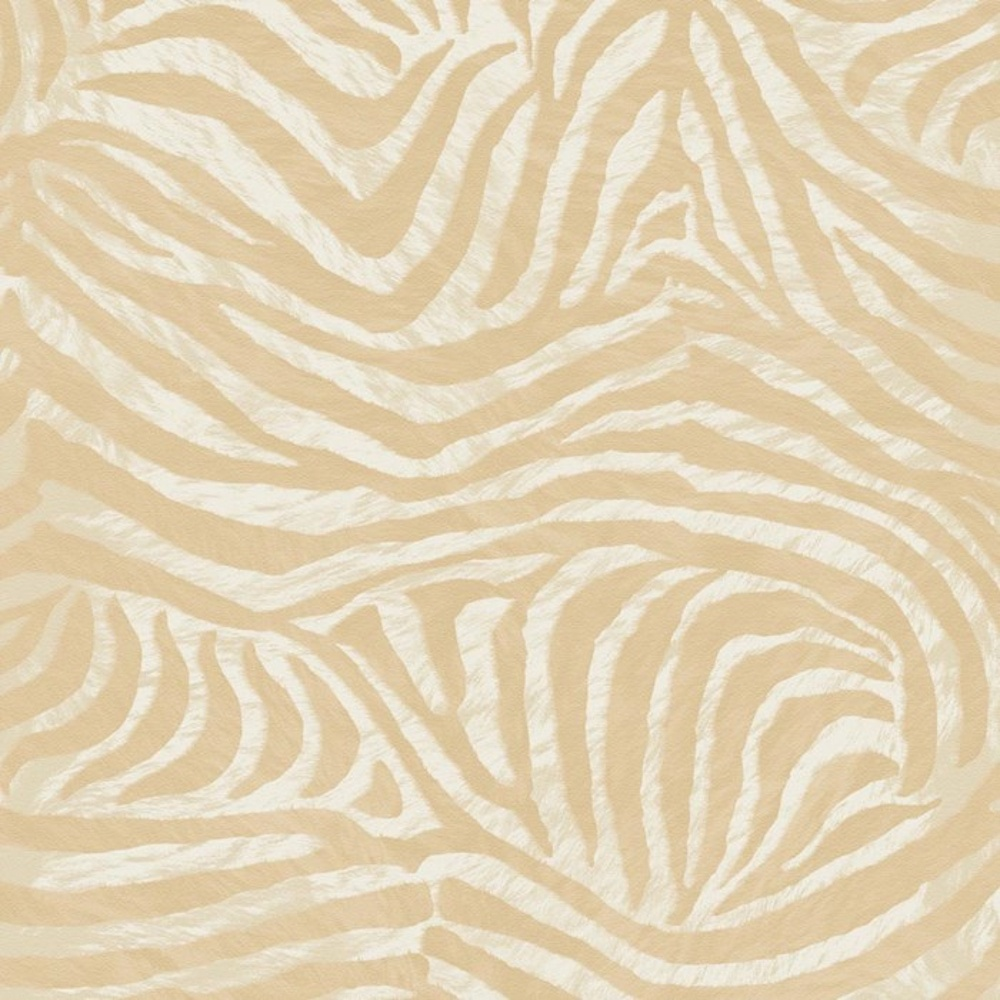 Brown Zebra Print Animal Faux Fur Pattern Textured Wallpaper 32 655 1000x1000