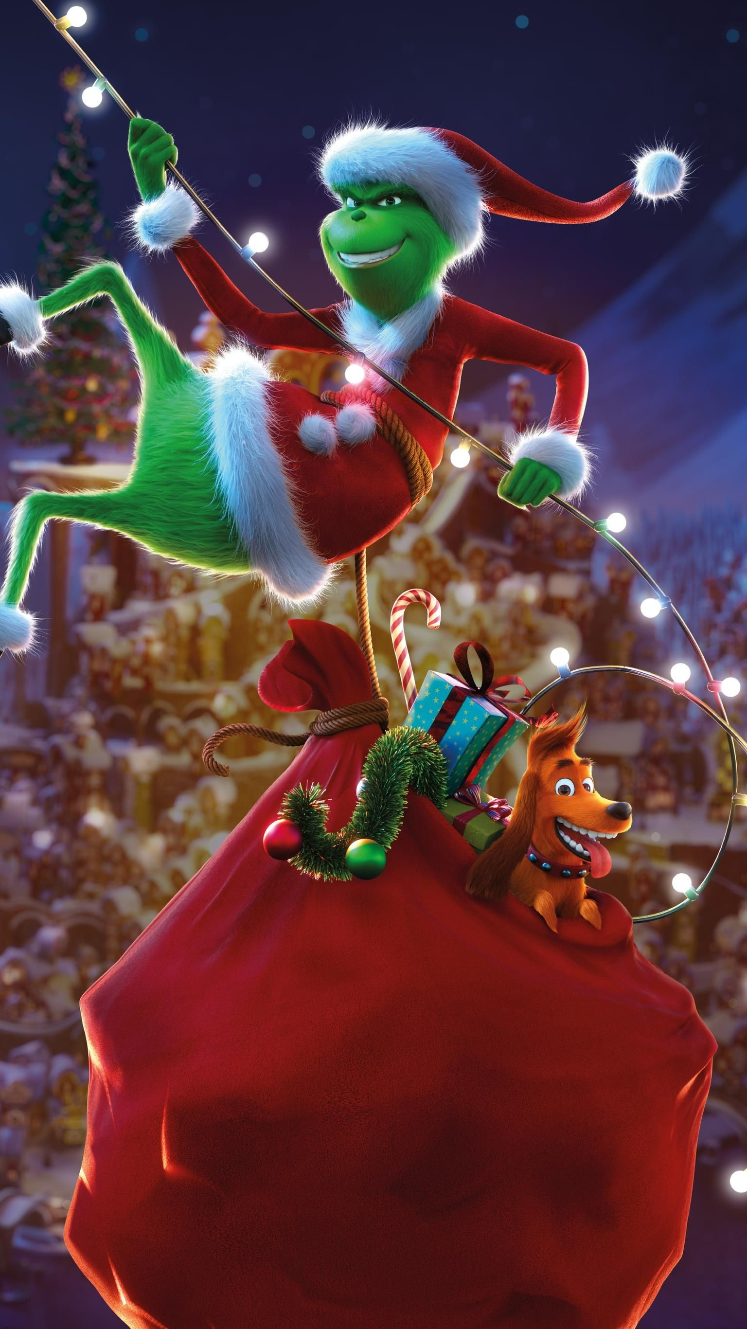 Christmas Wallpaper the Grinch 73 images 1536x2732