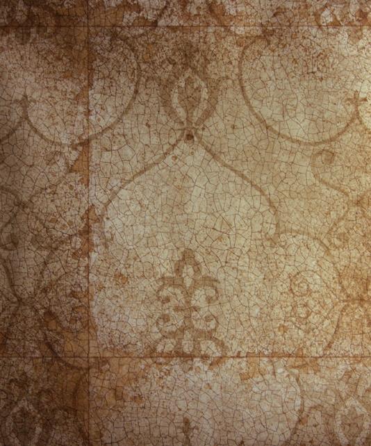 Rococo Mirror Wallpaper Copper wallpaper imitating antique mirror with 534x642