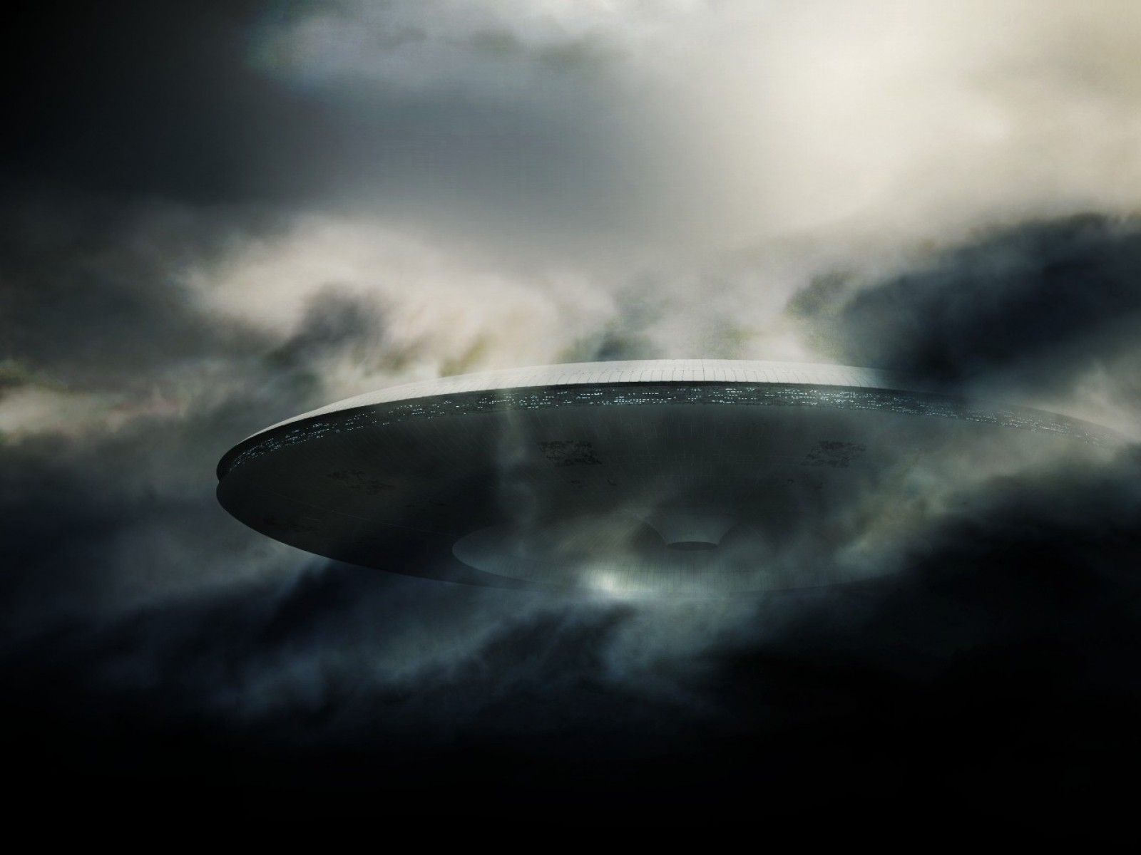 Spaceship Clouds ufo alien aliens spaceships wallpaper background 1600x1200