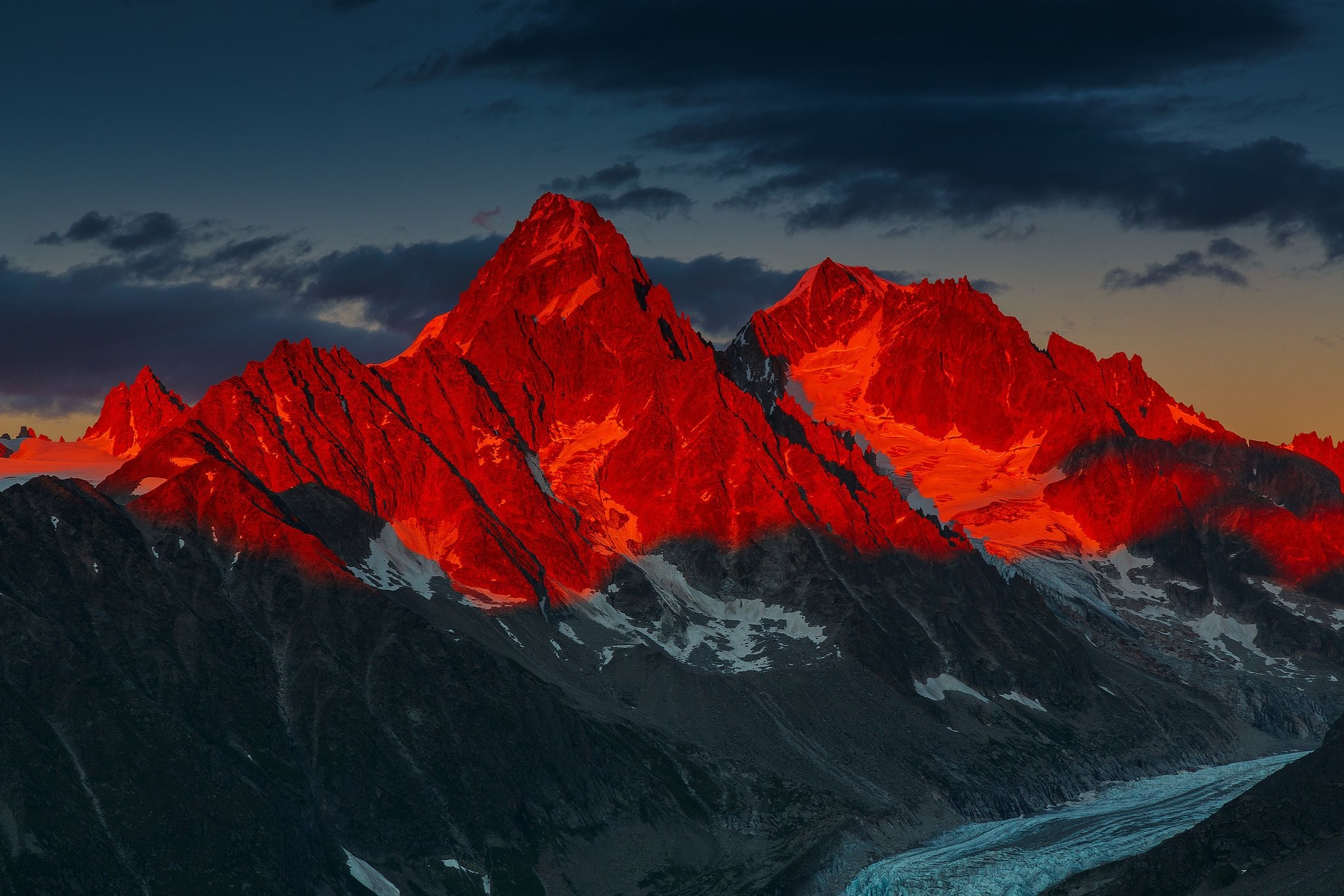 Glacier Alpsdesktop Images Night Glacier Mountains Peak Cool 2048x1366
