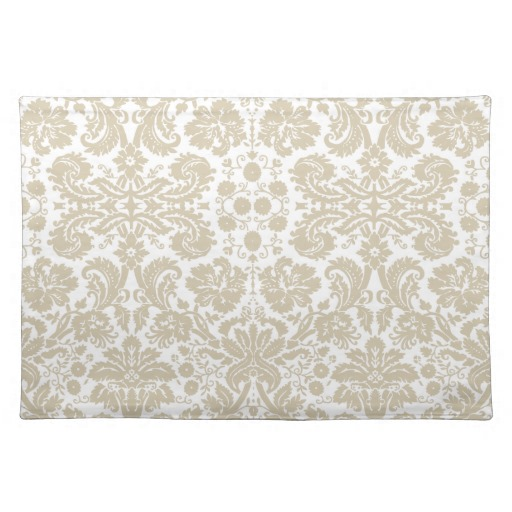 Vintage french floral art nouveau pattern place mat Zazzle 512x512