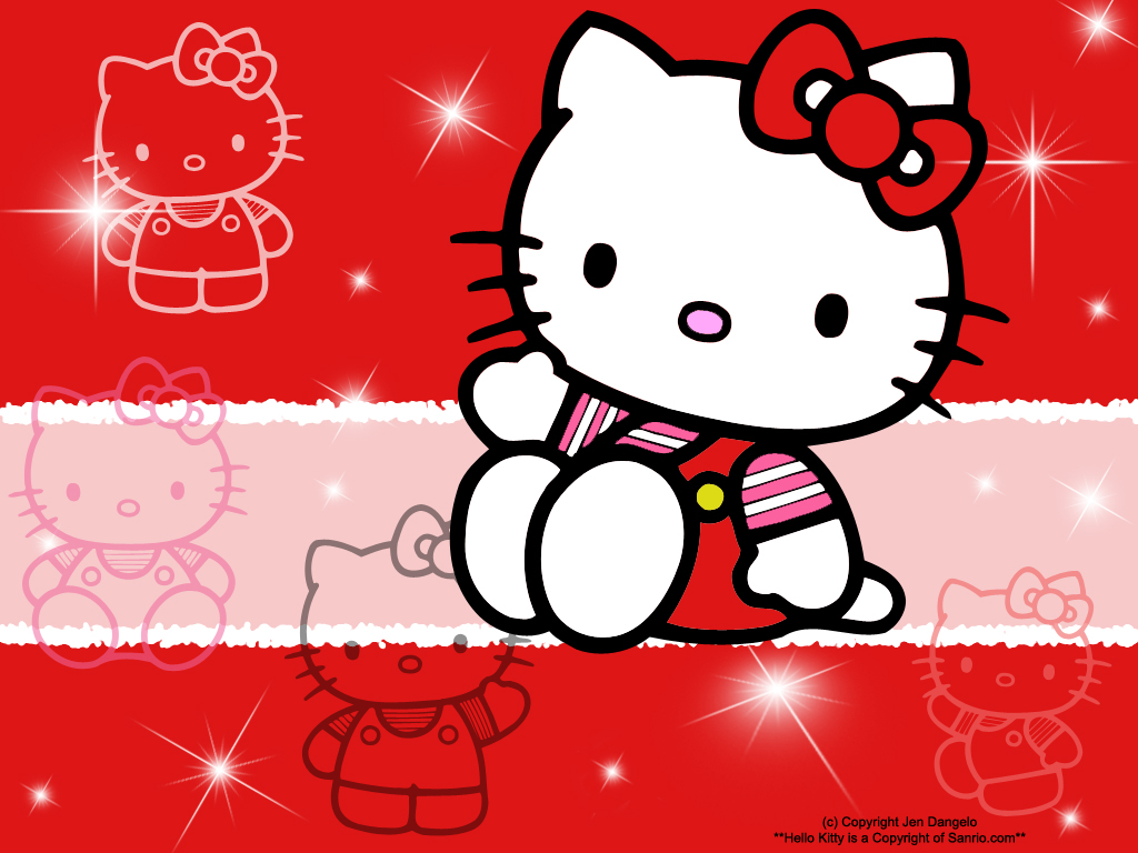 Description Cute Hello Kitty Wallpapers is a hi res Wallpaper for pc 1024x768