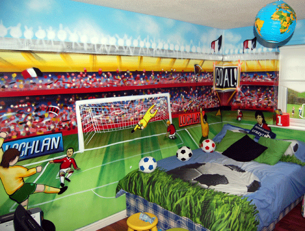 Football stadium wallpaper for bedrooms 28 images for Baseball stadium mural wallpaper