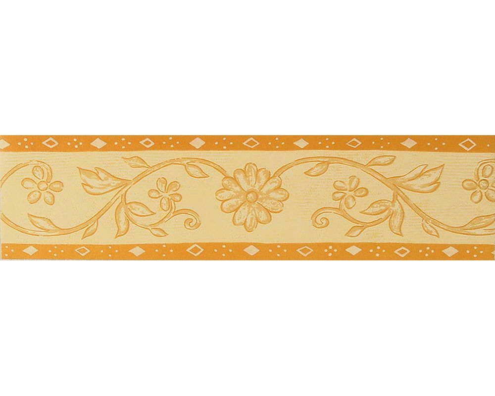 Only Borders 8 wallpaper border Floral 5241 33 yellow orange per m 1000x800