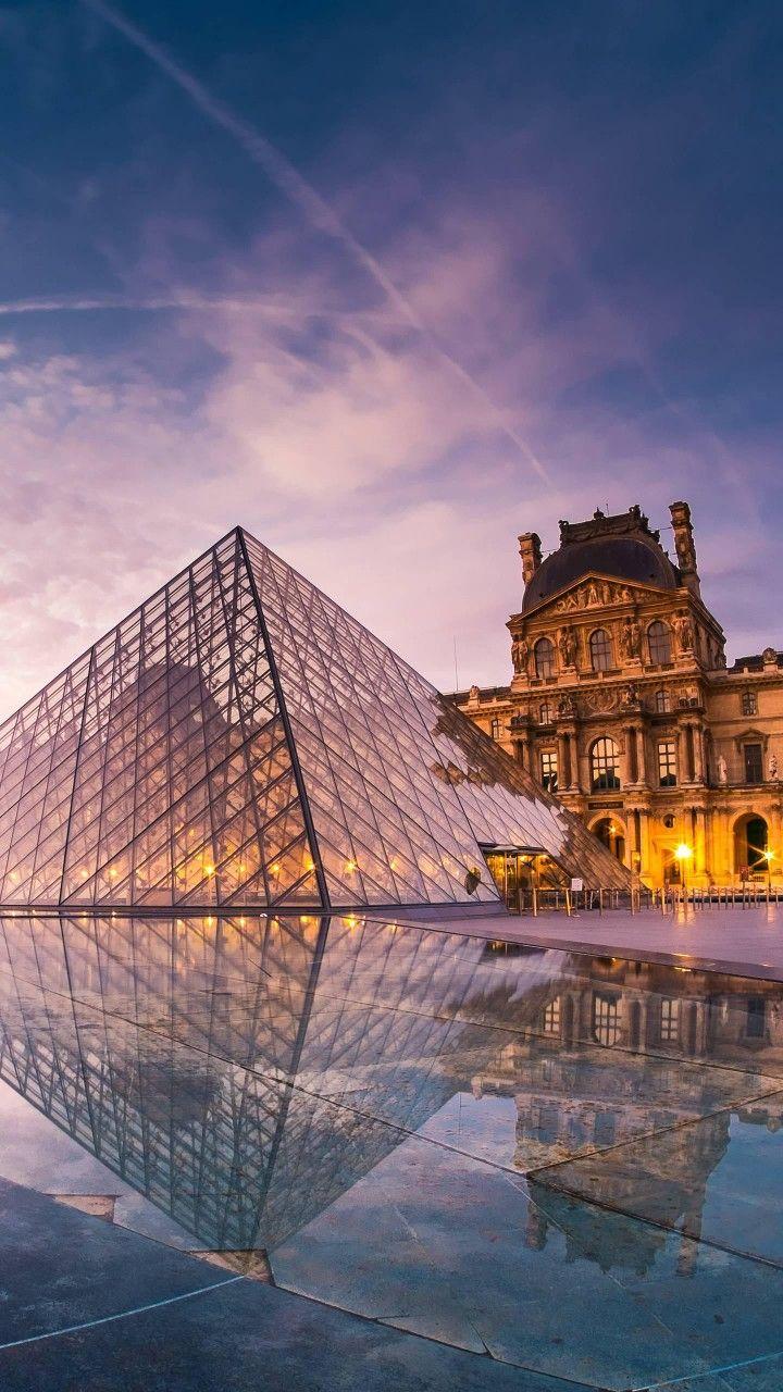 LouvreParis Beautiful Scene in 2019 Louvre Paris Iphone 720x1280