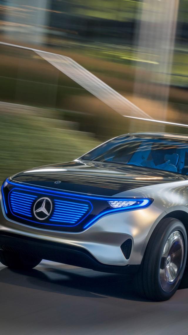 Wallpaper Mercedes Benz EQC SUV 2019 Cars electric cars 4K 640x1138