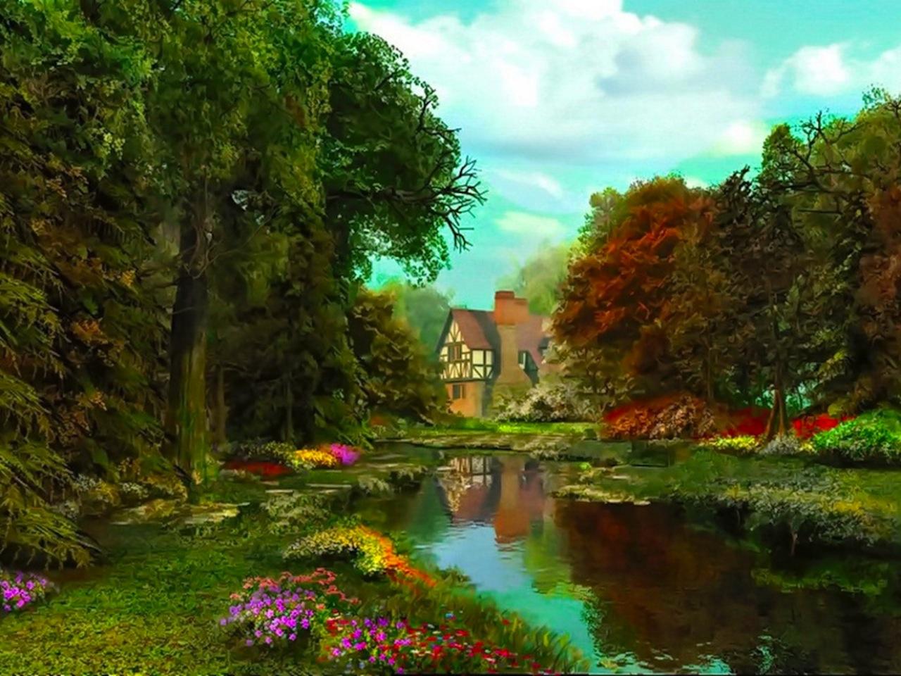 River Scene wallpaper   ForWallpapercom 1280x960
