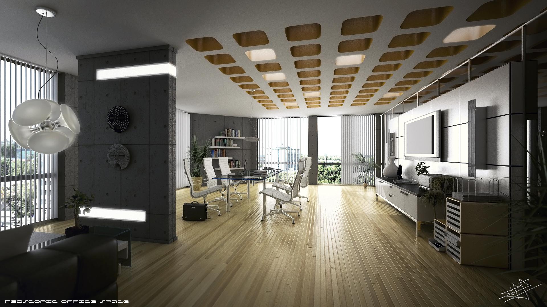 3D Office Space wallpaper   1393096 1920x1080