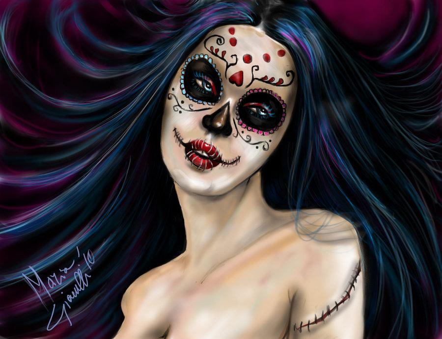 Sugar Skull Girl Wallpaper Hd Sugar skull girl by mari82giac 900x691
