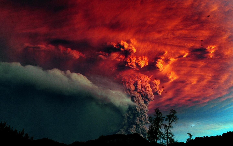 4K Wallpapers volcano eruption smoke colors 38402160 HD 1440x900
