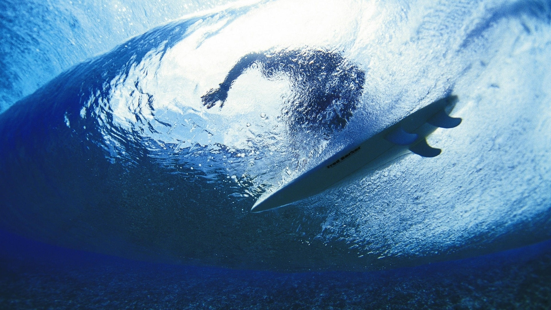 Download Wallpaper 1920x1080 Surfing Surfer Water Depth Full HD 1920x1080