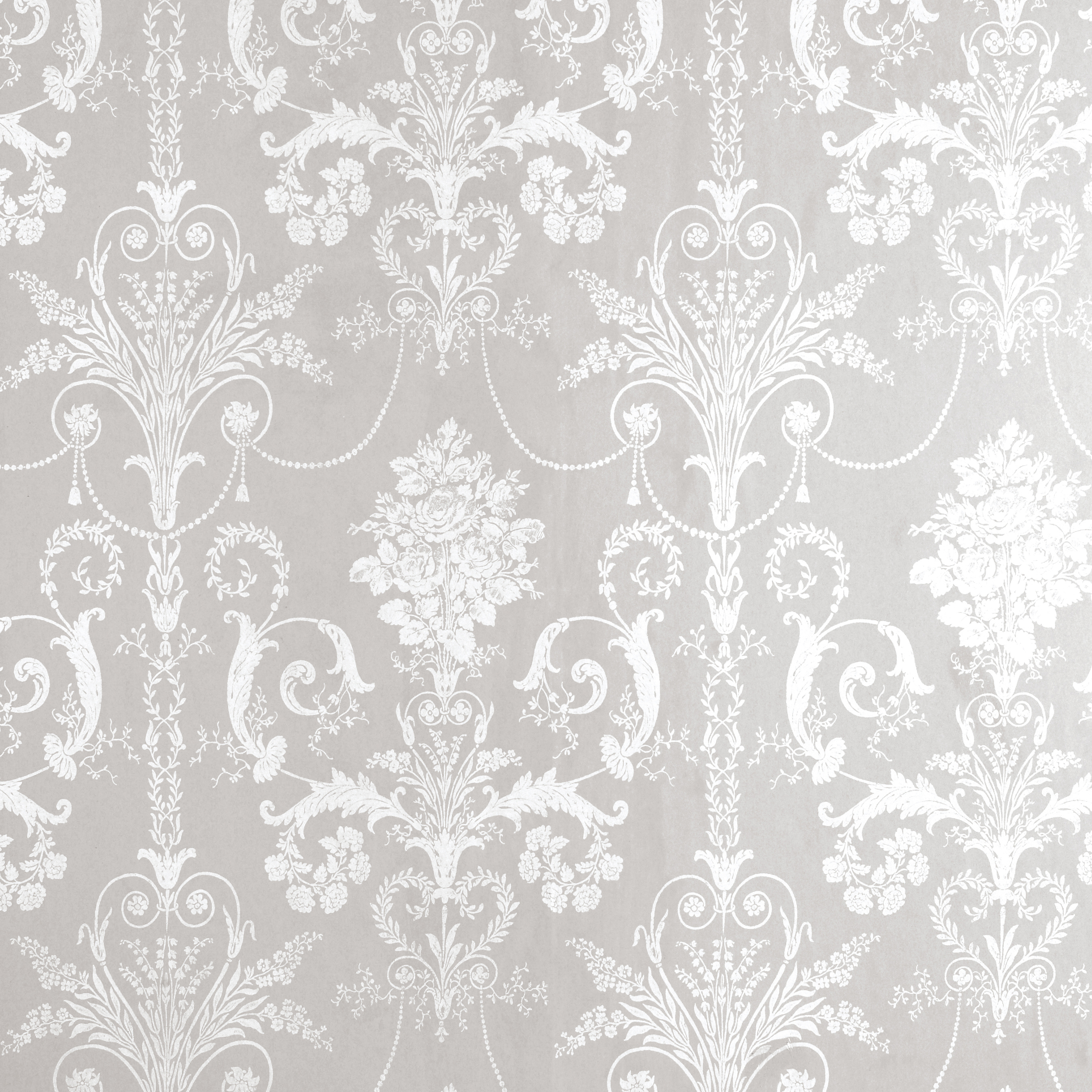 Home Decorating Wallpaper Josette WhiteDove Grey Damask Wallpaper 2500x2500