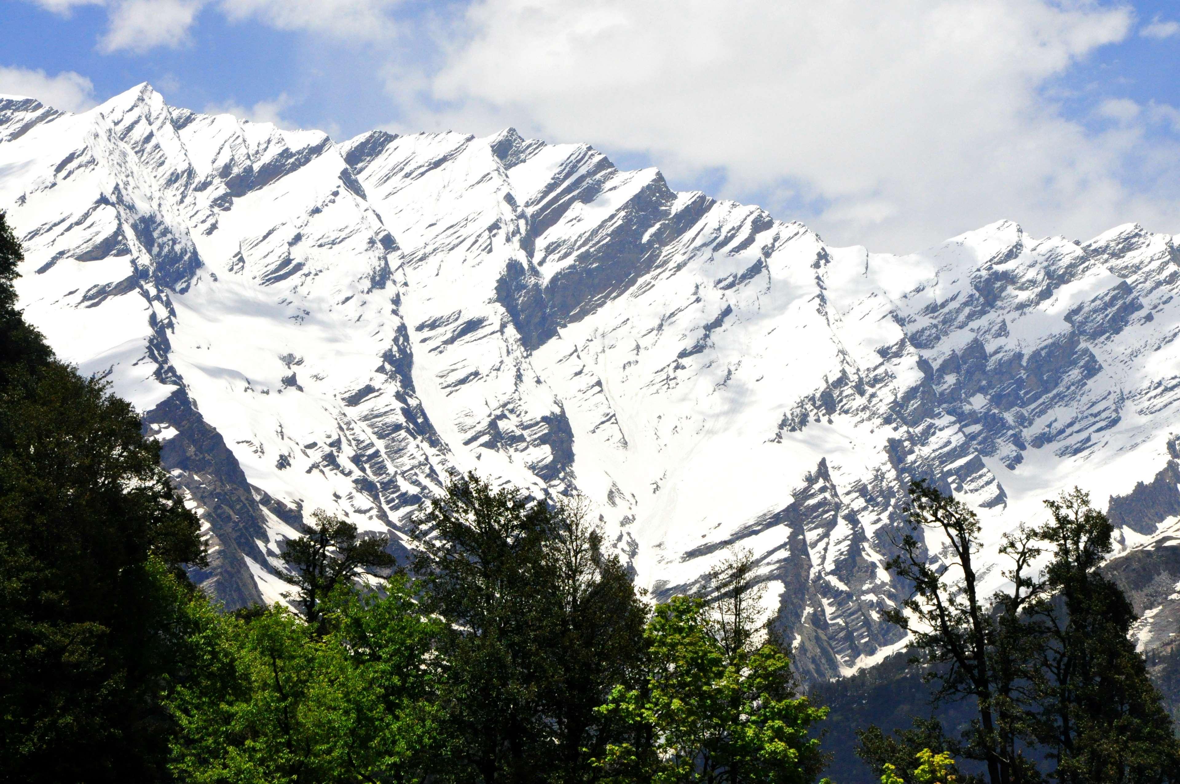 Mountain Mountain Top Snow Capped Mountains Winter   Manali 3840x2551