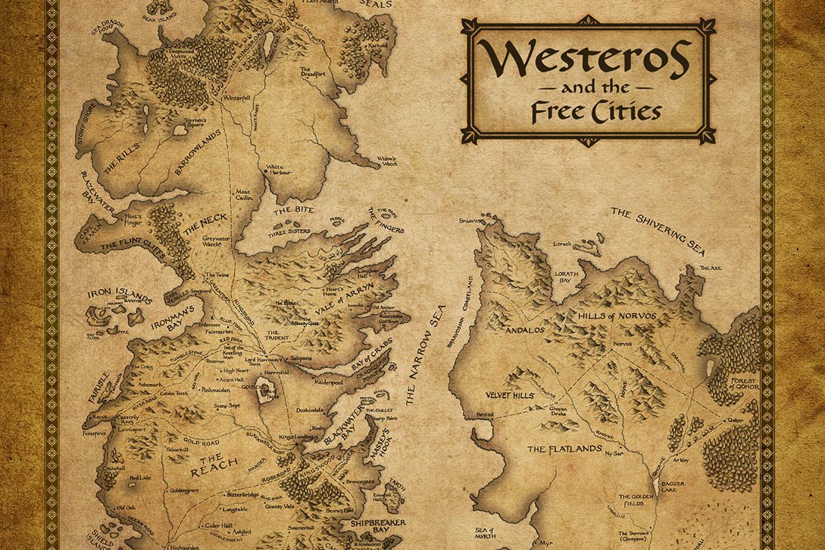 Westeros map wallpaper wallpapersafari - Westeros map high resolution ...