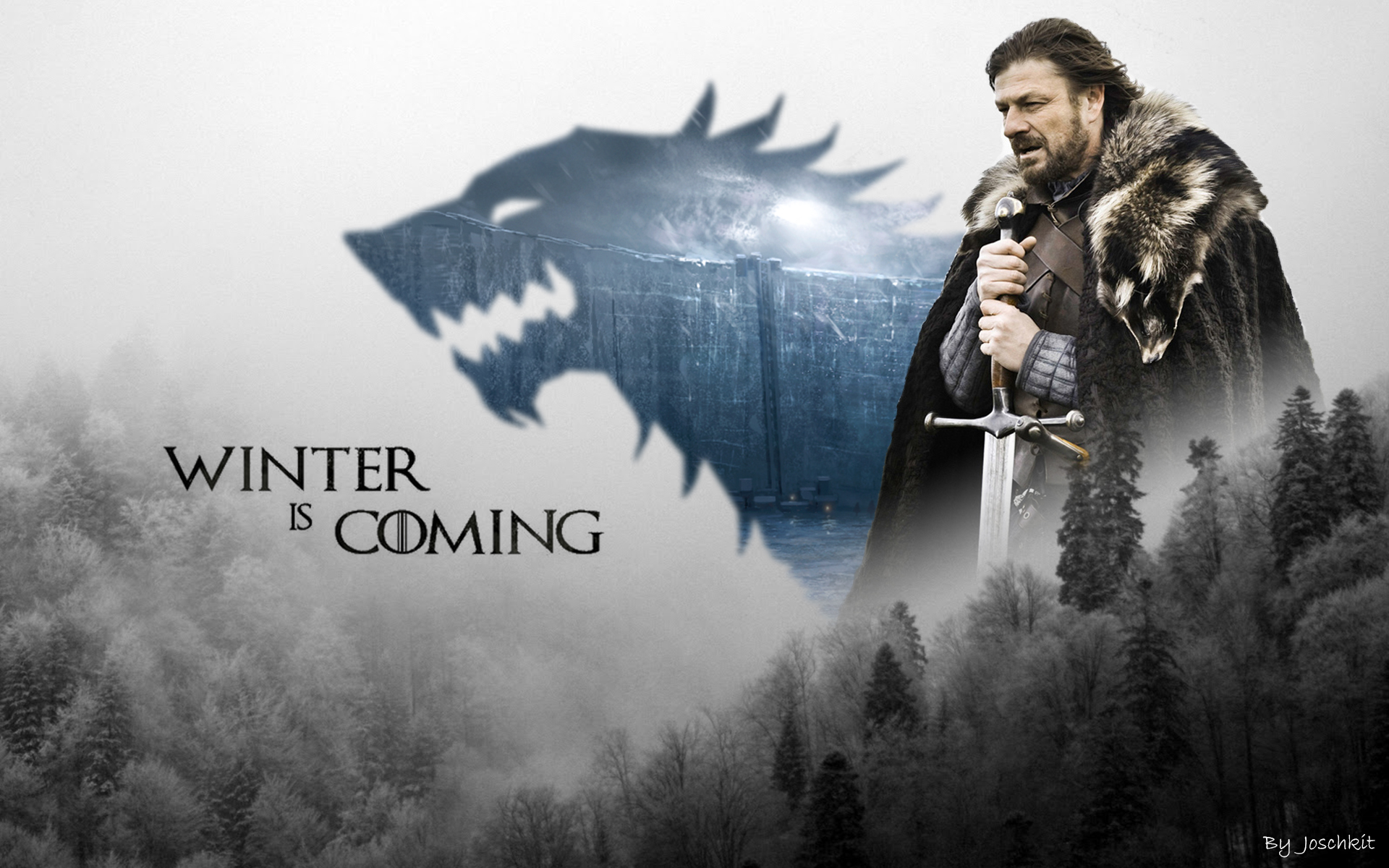 Game of Thrones Wallpaper Eddard Stark by Joschkit 1920x1200