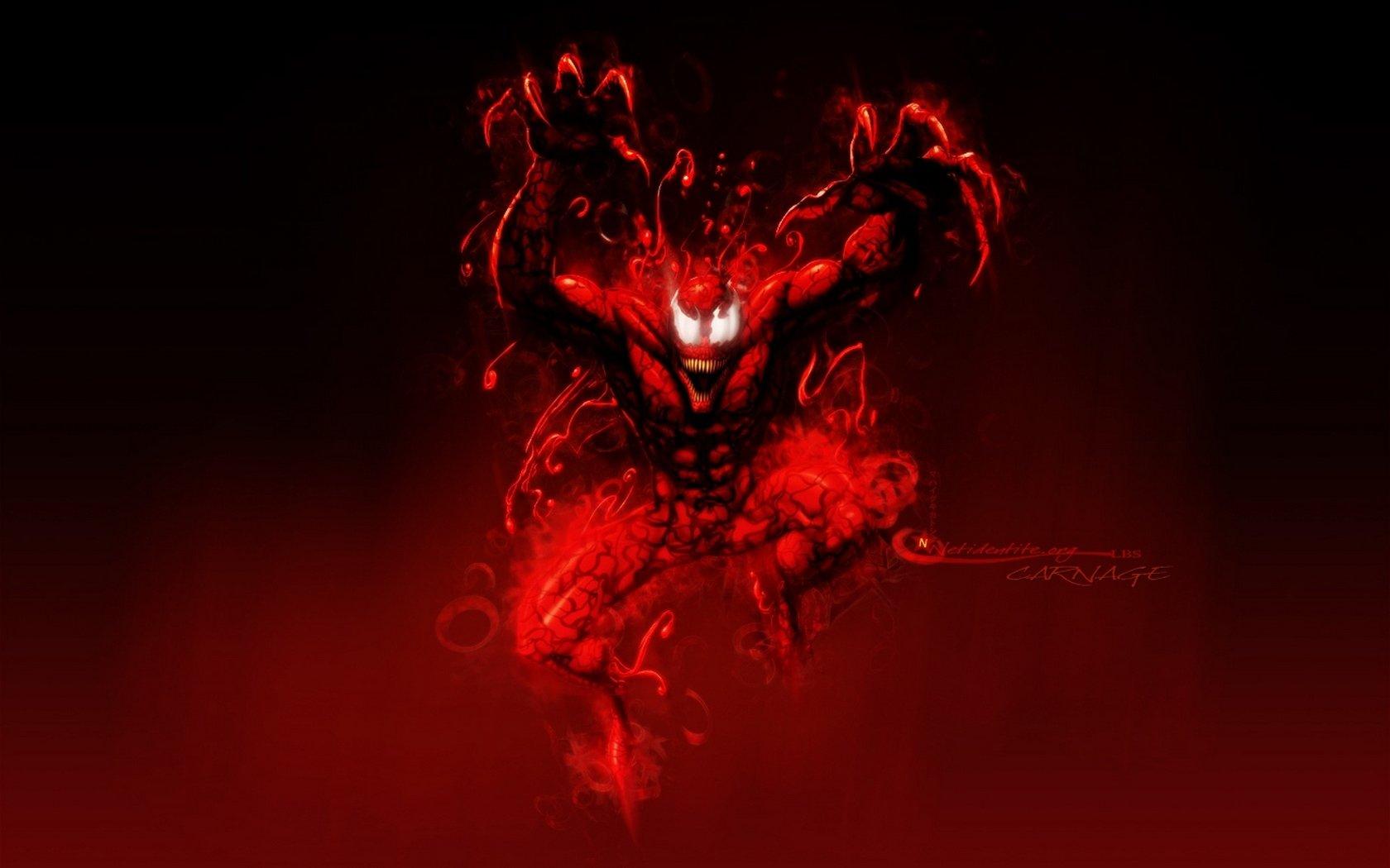 Fuentes de Informacin   Wallpaper HD Spiderman Venom Carnage 1680x1050