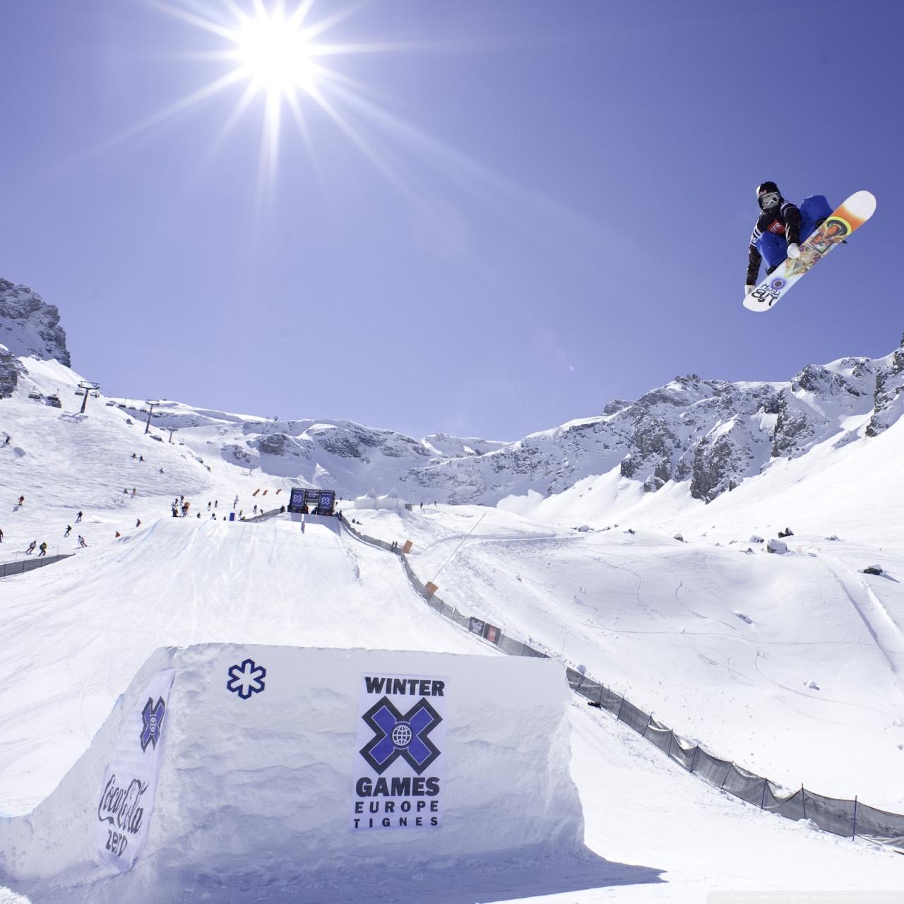 Winter Games Europe Tignes 4K HD Desktop Wallpaper for 4K Ultra 1280x1280