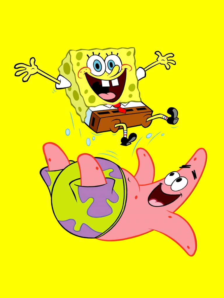 Get Funny SpongeBob And Patrick Best htc one wallpapers and easy 768x1024