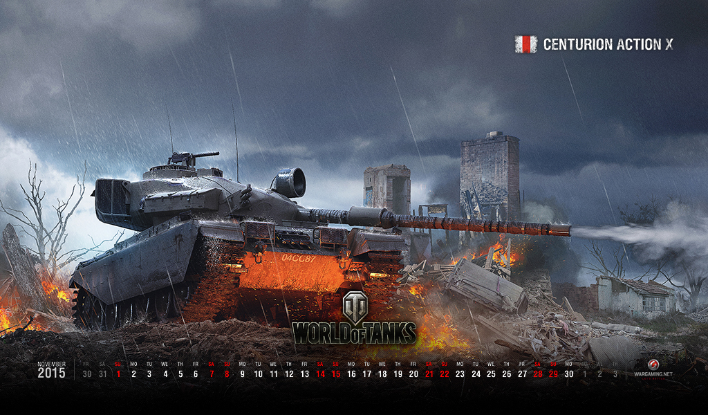 November 2015 Wallpaper Calendar Tanks World of Tanks media 1024x600