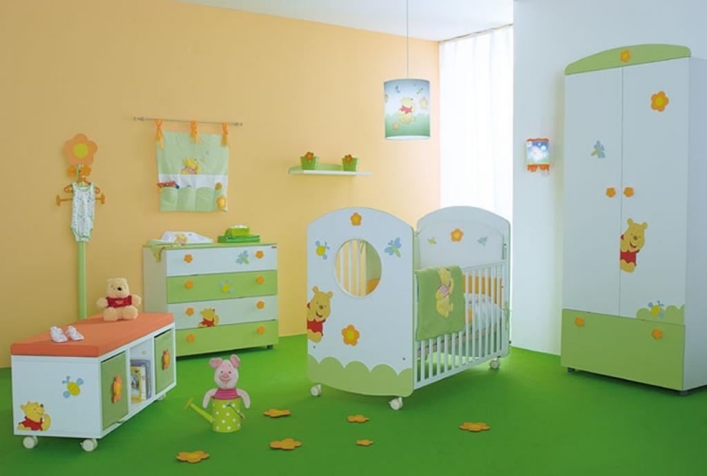 Wallpaper boys baby nursery room interior decorating design ideas