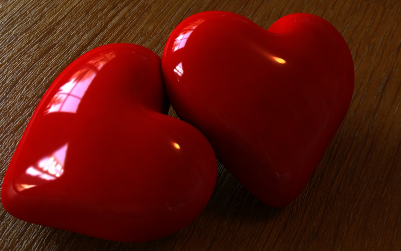Free Download 3d Abstract 3d Hearts Abstract 3d And Cg Hd