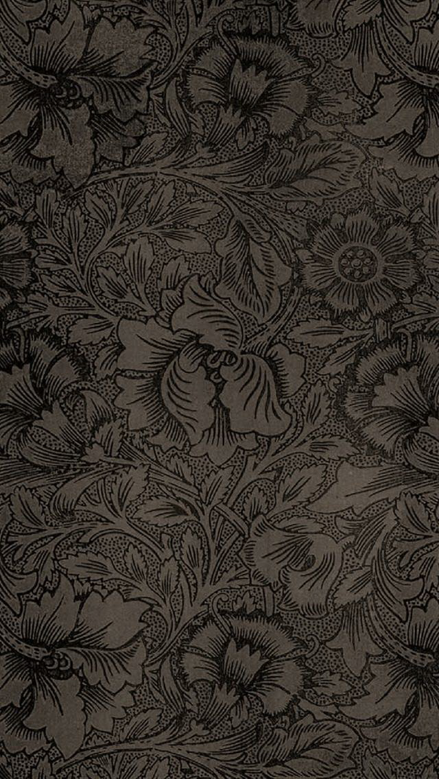 Vintage Flowers Background Wallpaper   iPhone Wallpapers 640x1136