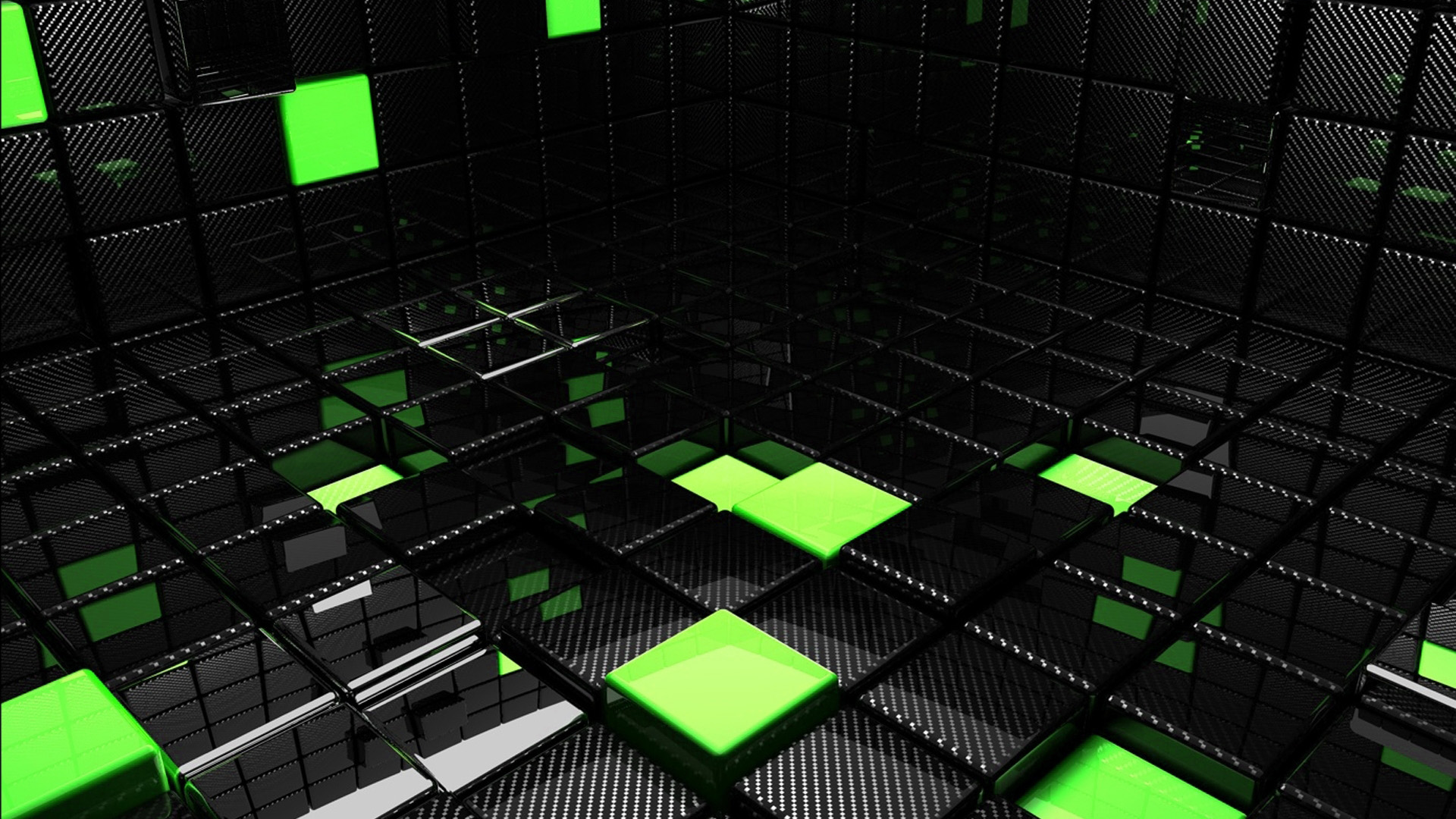 Black Cube Wallpapers Green Backgrounds Pictures and images 1920x1080
